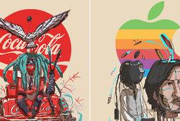 فنان يتصور الأيقونات التجارية كما لو أنها بشرًا