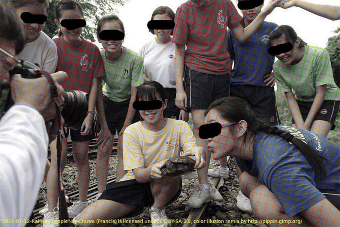 صور الأبيض والأسود تُظهر كيف قد يحفز الخداع البصري العقل ويحثه على تلوين الصورة
