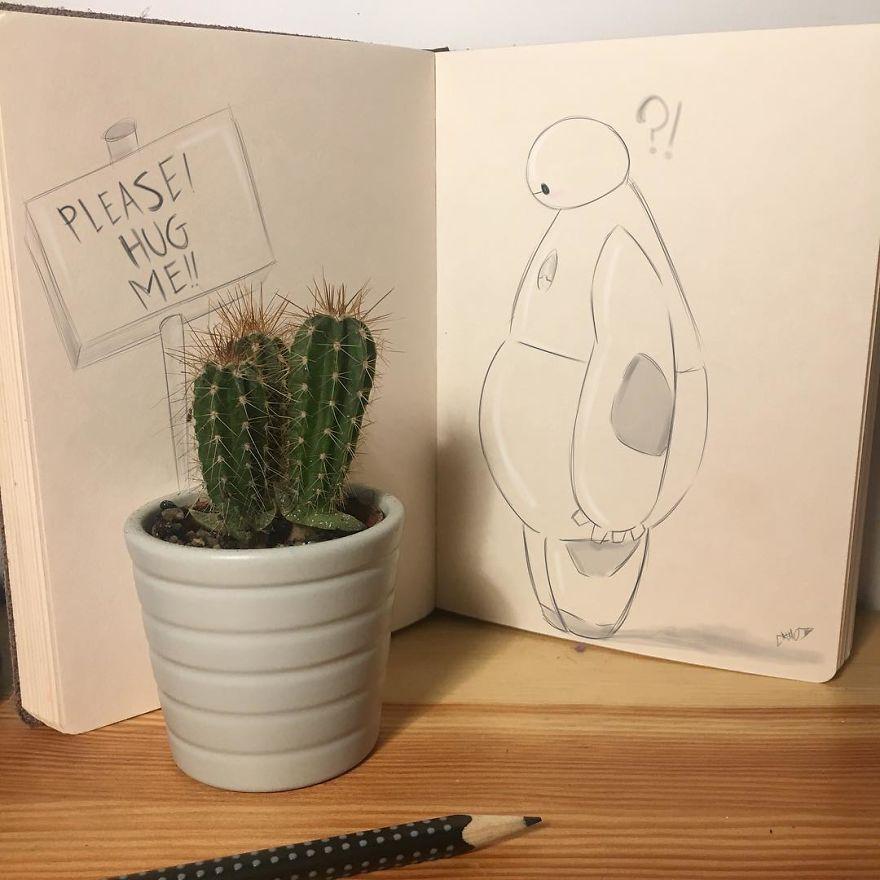 فنان يدمج الرسم والواقع