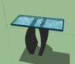 رسم طاولة موديل موديغن اوروبي