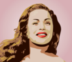 Hend Rostom fan art, vector portrait