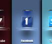 ايقونات المواقع الاجتماعية مصممة على طريقة جيوب