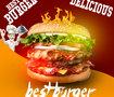اعلان لمطعم best burger