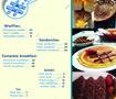 logo and menu for fa6or faris restaurant