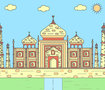 illustration of taj mahal