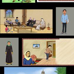 مجموعة رسومات ديجيتال لقصص وروايات كرتونية - للأطفال