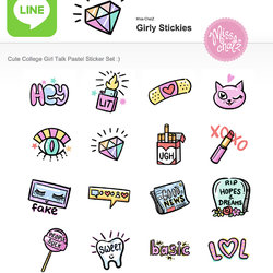 Girly Stickies