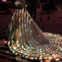 3d Projection Mapping  -Wedding Dress