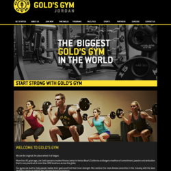 Gold's Gym Website (http://goldsgym.jo)