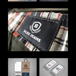 Branding Identity & Design Logo Blue Jeans Fashion