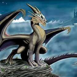 The Dragon (Digital painting)