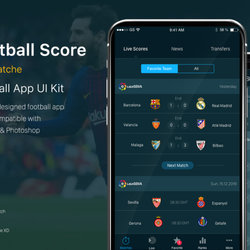 Football App UI Kit