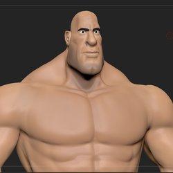Stylized muscular man