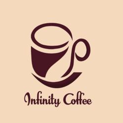 """شعار لوجو لقهوة """"Infinity """""""
