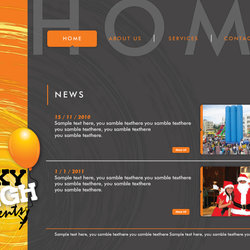 Layout Web Page for SKY HIGH