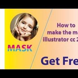 عمل ماسك Mask بالإليستريتور illustrator cc 2017