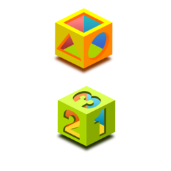 math and basic shapes icons