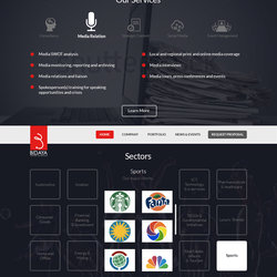 Bidaya Corporate Landing Page