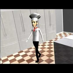 Chef modeling and animation