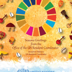 Seasons's Greeting's Card for the United Nations in The Gambia