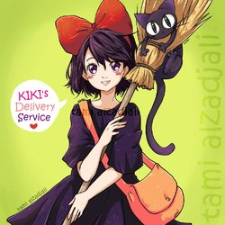 KIKI's Delivery Service ( Ghibli Studio Film fan Art)