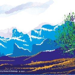 منظر طبيعي ثلجي 2
