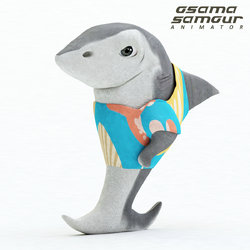 Plark (the shark) 3D character