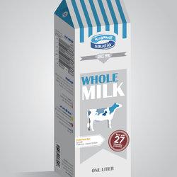 mock-up design for Saudia milk