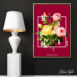 Floral Typography Poster