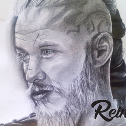 Portrait: Ragnar from Vikings