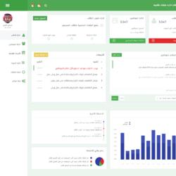نظام ادارة حلقات طلابية - تصميم لوحة الرئيسية من المشروع
