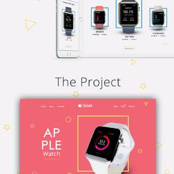 UI Website Design (minimalist apple watch website).