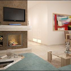 تصميم داخلي لشقة صغيرة