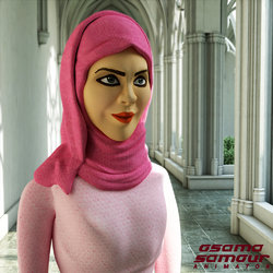 3D Model with Hijab