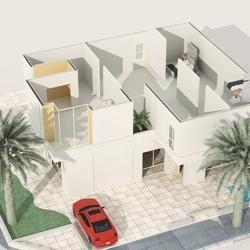 "3D house animation "" T I R A Z G A R D E N S - Growing-Building """