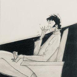 Drawing funny man