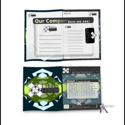 تصميم هوية الشركات،  بروجيكت اولي من تصميم وابداع المستر دنوف