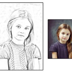 تحويل الصور الى رسم بالرصاص بإستخدام الفوتوشوب