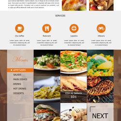 تصميم الصفحة الرئيسية لمطعم