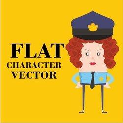 Draw Flat character using illustrator vectors
