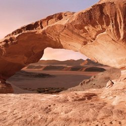 animated matte painting - Wadi Rum