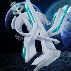 A Letter 3D style Graffiti