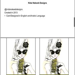 Nida Nakeeb Fashion Designer business card
