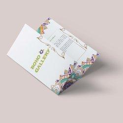Boho Galleray Brochure Design