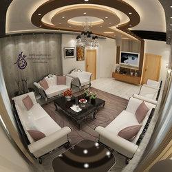 Internal guest lounge design