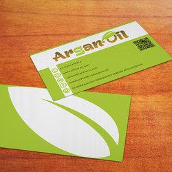 بطاقة اعمال business card لتعاونية زيت الاركان (Argan Oil)