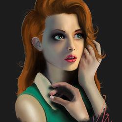 رسم ديجيتال لشخصية فتاة