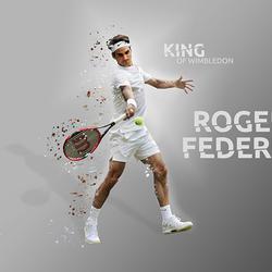 Roger Federer Wimbledon splash