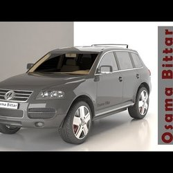VW CAR | 3D modeling using 3D_Max | Osama Bittar