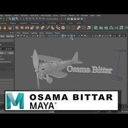 wooden plane |3D modeling using MAYA | Osama Bittar